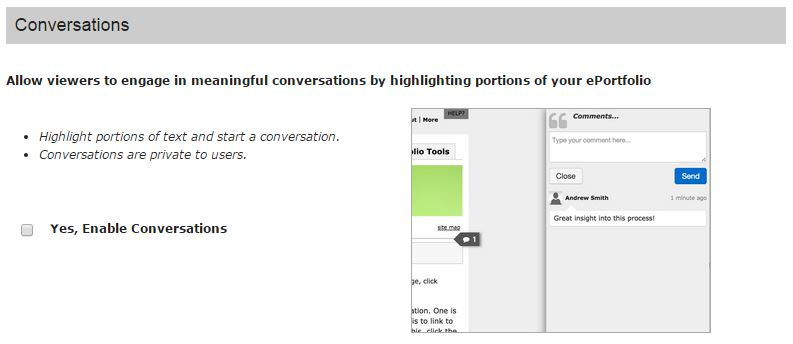 Enable Conversations