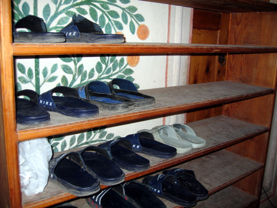 Shoes at a Bosnian mosque