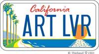 California ART LVR Plate
