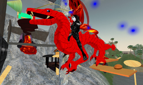 MRags riding a dragon